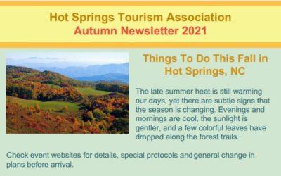 Hot Springs NC Autumn 2021 Newsletter