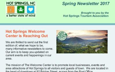 Hot Springs Welcome Center – Spring 2017 Newsletter