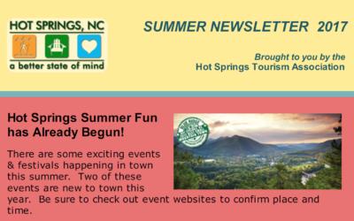 Hot Springs Welcome Center – Summer 2017 Newsletter