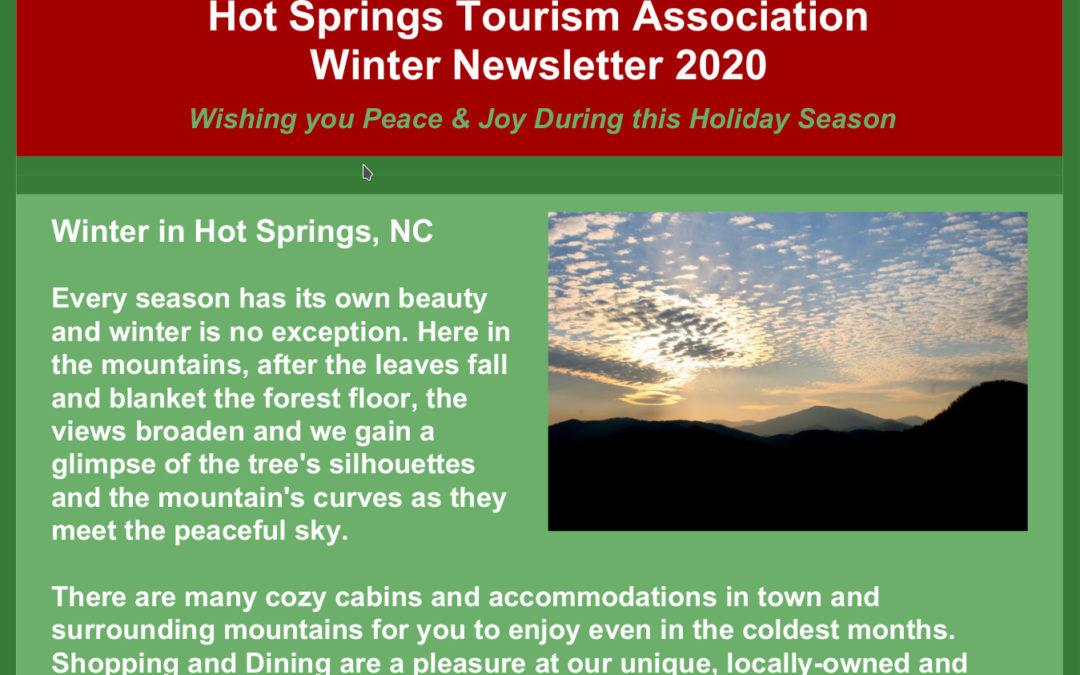 Hot Springs NC Winter 2020 Newsletter